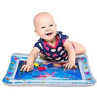 """Развивающий коврик для младенца """"прямоугольный с осьминогом"""" водяной акваковрик для ребенка (TI)"""