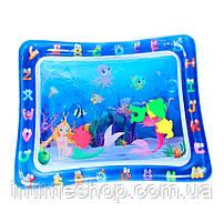 """Водный коврик для детей """"прямоугольный с русалками"""" развивающий коврик для младенца   ігровий аквакилимок (TI)"""