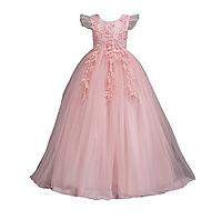 Платье нежно розовое бальное выпускное нарядное для девочки
