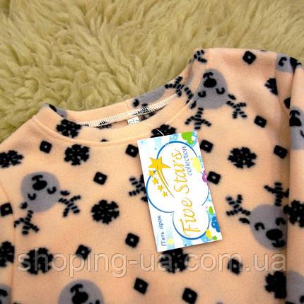 Детская флисовая пижама олени Five Stars KD0407-128p, фото 2