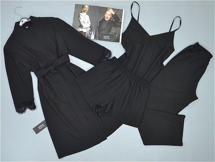 Черный комплект домашней одежды 4 предмета.