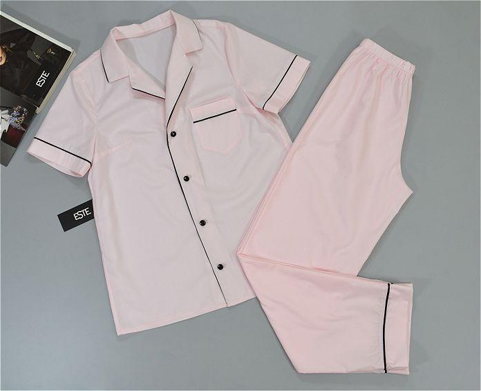 Пижама женская рубашка и штаны хлопковая розовая.