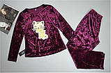 Велюровая пижама зимняя кофта и штаны с рисунком., фото 2