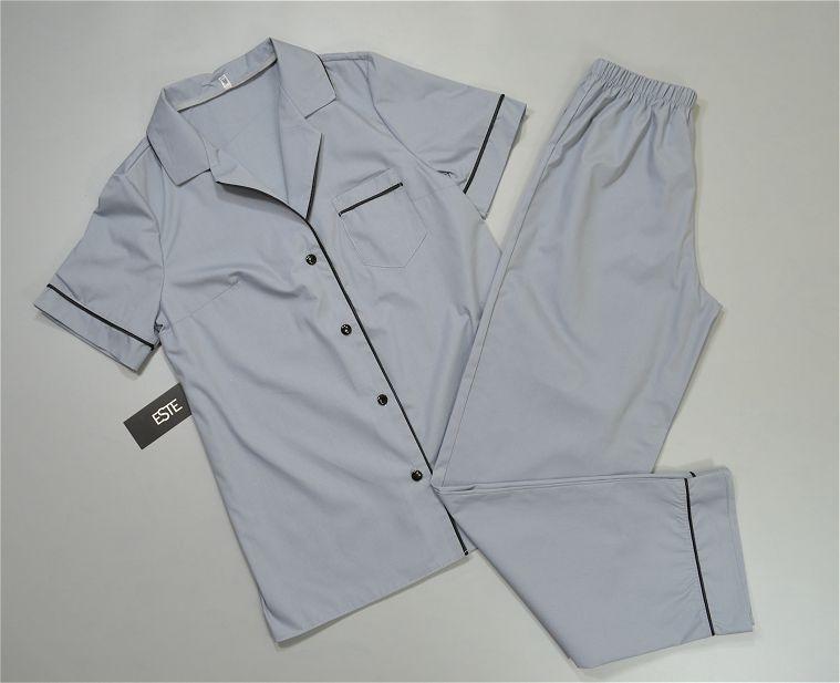 Хлопковая пижама женская рубашка и штаны.