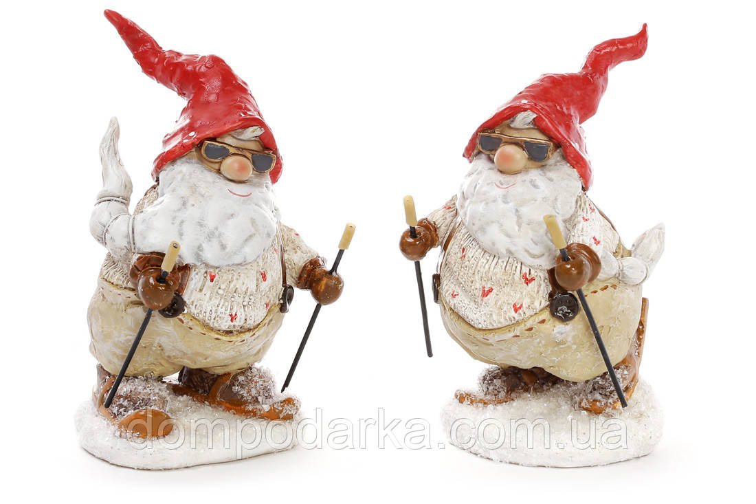 "Новогодняя Статуэтка ""Дед мороз на Лыжах"""
