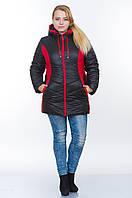 Куртка зимняя № 26 черный-красный р. 48-56