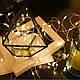 Светодиодная гирлянда нить на 50 Led Капли росы 5 м на батарейках белая теплая., фото 6