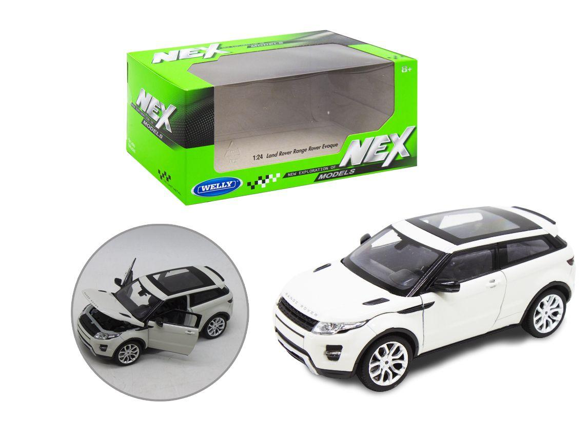 Машинка металлическая Range Rover, белая