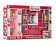 Ігрова кухня для ляльок 28х37х8 см, холодильник, мийка, плита, продукти, лялька, звук, світло 66082, фото 3