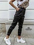 """Теплі шкіряні штани-джоггеры """"Маркус"""" I Норма, фото 3"""