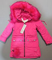 Зимняя курточка пальто на меху для девочки 122, 128, 134, 140 см рост, фото 1