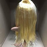 Парик длинный прямой блонд с челкой 56 см, фото 3