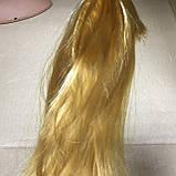 Парик длинный прямой блонд с челкой 56 см, фото 4