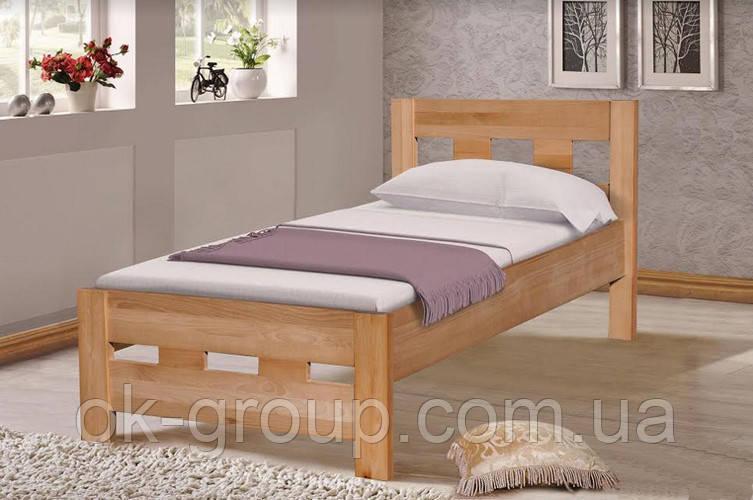 Кровать односпальная бук 90*200 Space Микс мебель