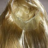 Парик длинный прямой блонд с челкой 56 см, фото 5