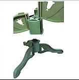 Елка искуственная литая Лидия с белыми кончиками 180см (1.8м), фото 2