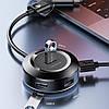 HUB адаптер USB USB Type-C USAMS US-SJ416, 4USB, черный, фото 2