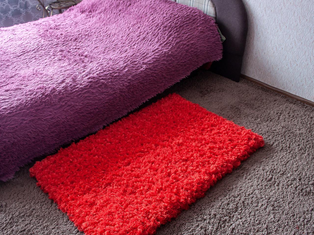 Красный коврик -  Коврик от сглаза - Коврик в ванную комнату