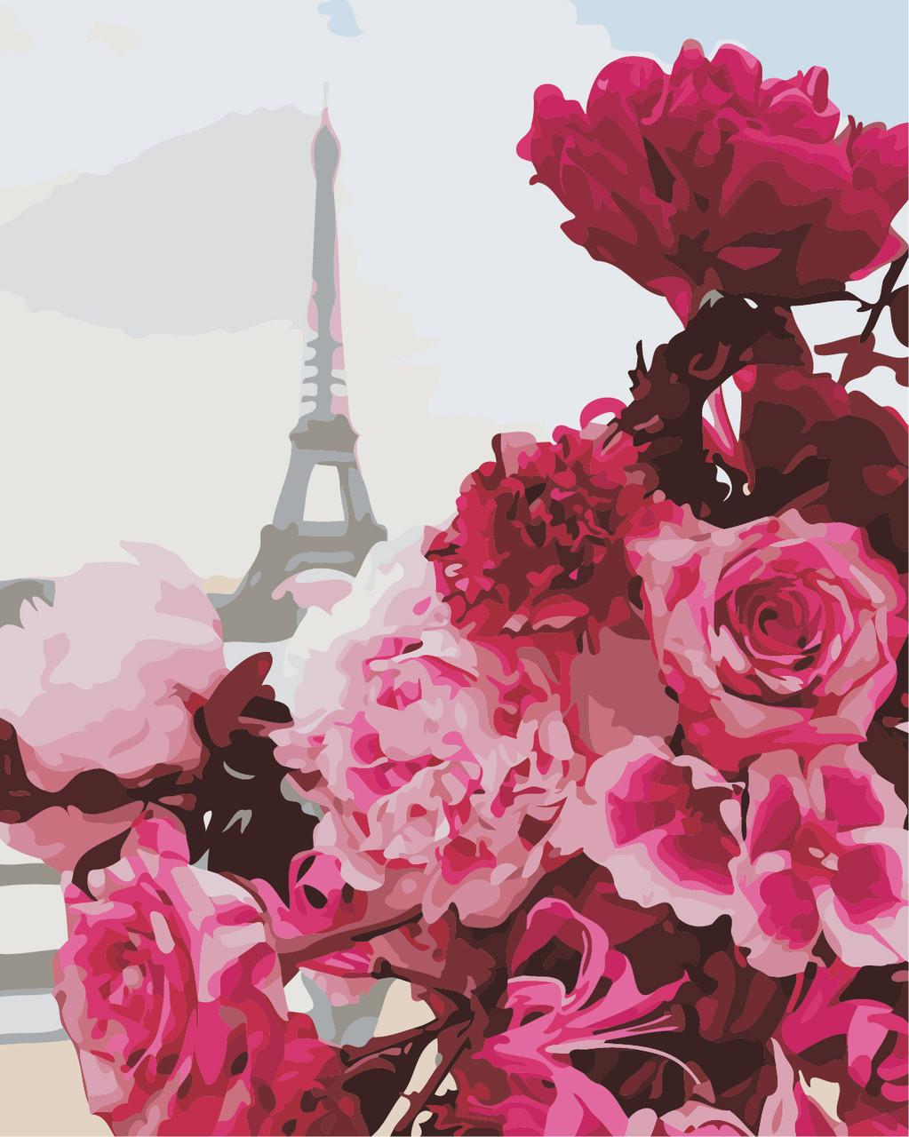 """Картина по номерам """"Французские цветы"""" 40*50см"""