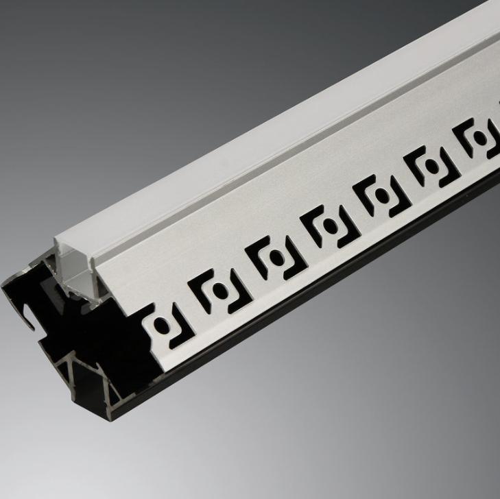 Профиль анодированный в гипсокартон под штукатурку для светодиодной ленты. ХН-646. Премиум. Комплект 3 метра