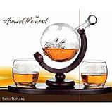 "Набор для виски ""Вокруг мира"" (Штоф 850 мл. + 2 стакана), фото 3"