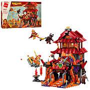 Конструктор Qman «Битва с красным воином» Monkey King 1073 деталей 3807