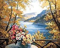 """Картина за номерами """"Осінні квіти"""" 40*50см"""