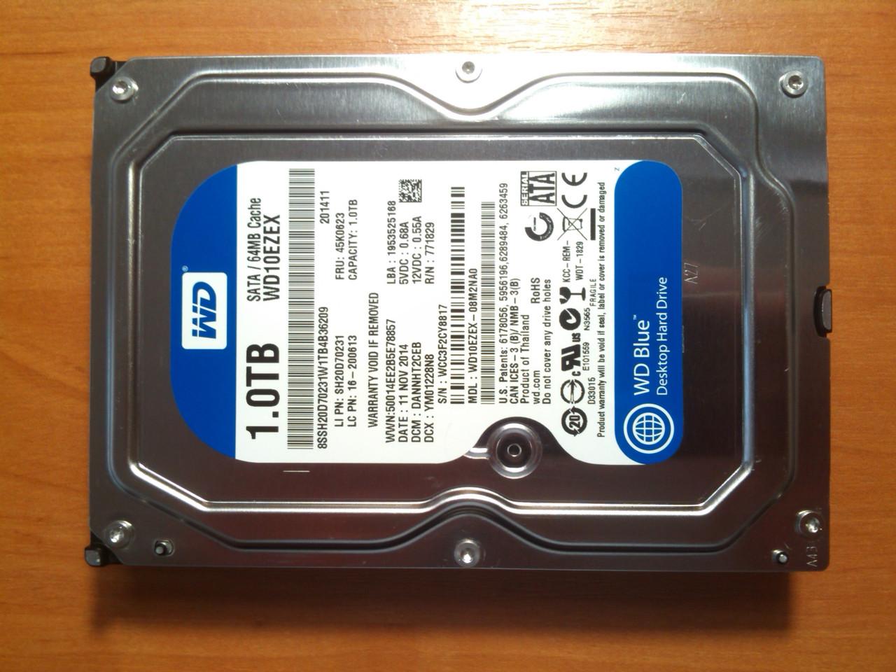 HDD WD 1TB WD10EZEX 7200rpm SATAIII Гарантія!