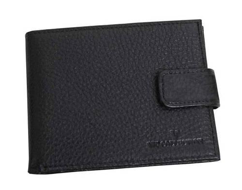 Портмоне кошелек мужской кожаный VIP COLLECTION Украина 91A flat черный