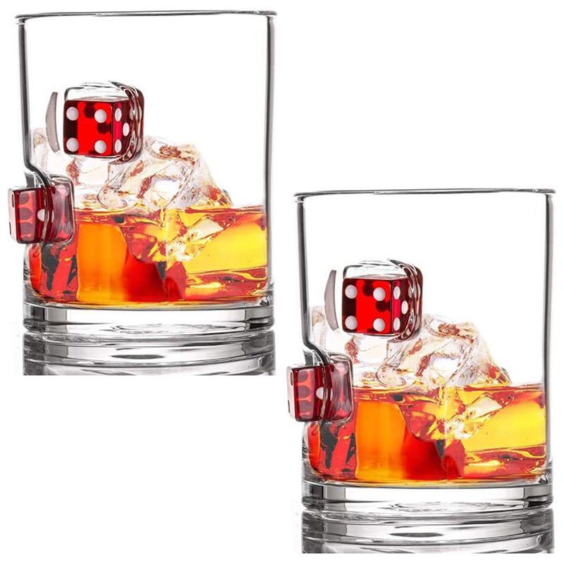 Стаканы для виски Фортуна с игральными кубиками
