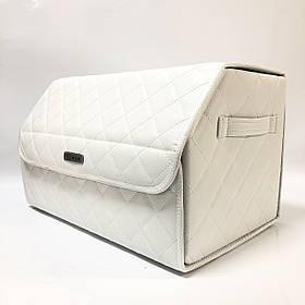 Саквояж із лого у багажник «Kia» I Органайзер в авто КІА білий