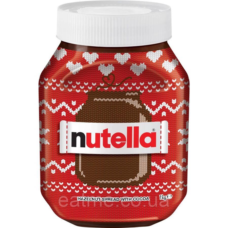 Nutella Christmas Шоколадно-ореховая паста 1 кг Германия