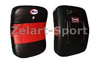 Макивара Изогнутая (1шт) Кожа TWINS KPL-4-BK-RD (поддержка для рук, р-р 43х63х10см, черный-красный)