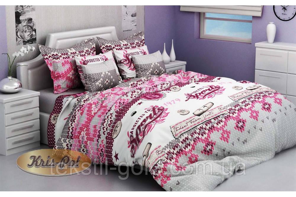 Подростковое постельное белье STUDENT TEAM RED (2шт Наволочки) Бязь голд ТМ Kris-pol Полуторное