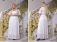 Женское вечернее гипюровое платье с подкладкой батал размеры:50-52,54-56,58-60,62-64