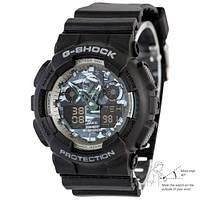 Мужские спортивные часы Casio G-Shock GA-100 Autolight Black-Gray