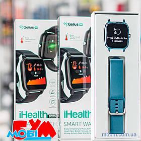 Смарт часы с термометром и пульсоксиметром Smart Watch Gelius Pro (IHEALTH 2020) /IP67/ Midnight Blue