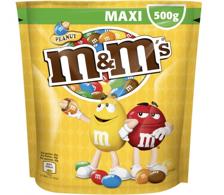 M&M's Peanut Шоколадное драже с арахисом 500 g
