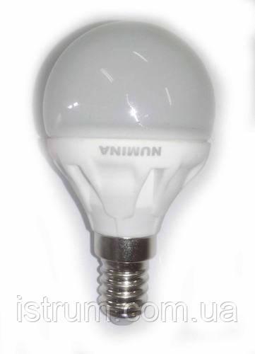 Лампа светодиодная 4,5W E14 (3000К, 4000К, 4500К) 220V, 120°, Ceramic 330Lm Numina