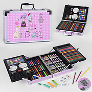 Набор для творчества С 44494, 145 предметов, в чемоданчике с ручкой