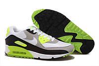 "Кроссовки Nike Air Max 90 ""White Yellow Black Type"" (Копия ААА+), фото 1"