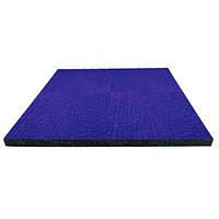 Килимова плитка на гумовій основі PuzzleGym 500x500x15 мм Синий, фото 1