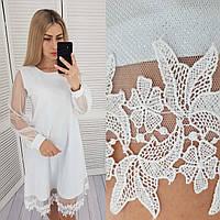 Платье трапеция + сетка арт. 407 белый / цвет белый