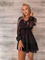 Женское красивое шифоновое платье
