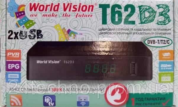 Тюнер Т2 DVB-T/T2/C World Vision T62D3 YouTube IPTV . ГАРАНТИЯ 1 ГОД
