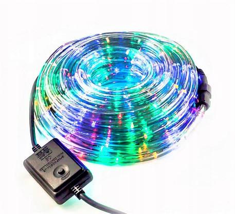 Разноцветная Уличная Гирлянда 10 метров Силиконовый Шланг LED Светодиодная Влагозащитная, фото 3