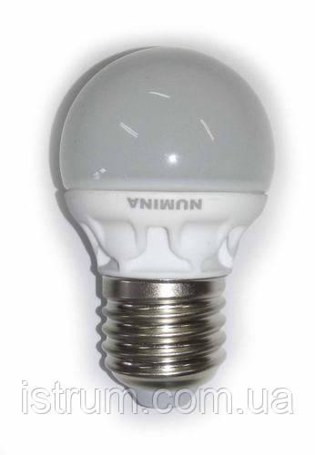 Лампа светодиодная 4.5W Е27 4100К Ceramic 330LM, 220V, 120° Numina