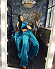 Женская красивая теплая пижама твойка (топ, штаны, халат с поясом), фото 3