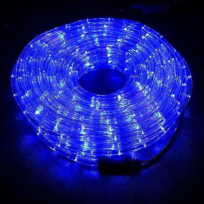 Синя Неонова Вулична Гірлянда 10 метрів Силіконовий Шланг LED Світлодіодна Вологозахисна, фото 2