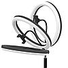 Свет кольцевой Selfie Ring Fill Light D=26 см Кольцевая лампа 5500K - 3200К 3 Режима освещения, фото 6